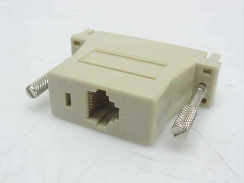 Generic 25 Pin Serial to 8 Pin RJ45 Adapter N/L