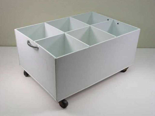 Generic Chemical Solvent Container w/Wheels - 6 Slot 9x16x23