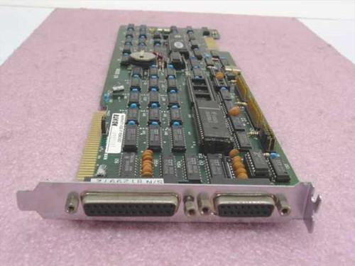 PC&C P991101 8-Bit ISA Long Multi I/O Card Serial Parallel Floppy Edge