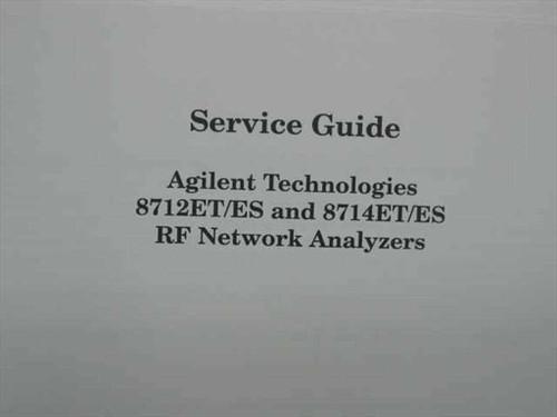 Agilent Technologies 8712ET/ES and 8714ET/ES RF Network Analyzer Service Guide