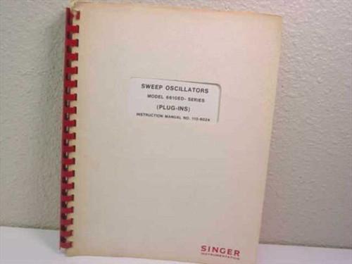 Singer Instrumentation 110-6024 Sweep Oscillators Model 6610E Instruction Manual