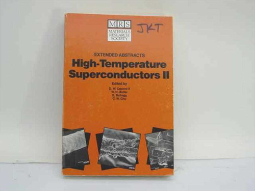 Capone, D.W. II et al., Eds. Materials Research Society 1988 High-Temperature Su