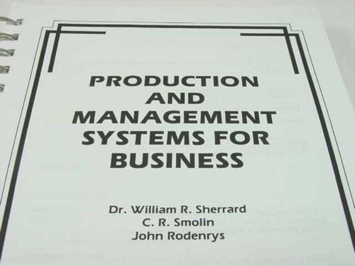 Sherrard, William Prentice Hall Production and Management Systems for Business