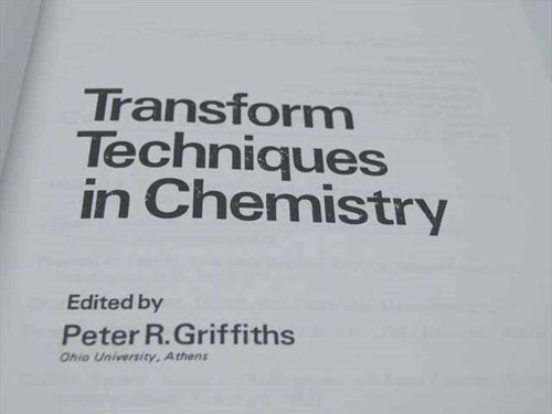 Griffiths, Peter R. Heyden 1978 (Transform Techniques in Chemistry)