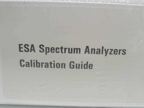 Agilent Calibration Guide (ESA Spectrum Analyzers)