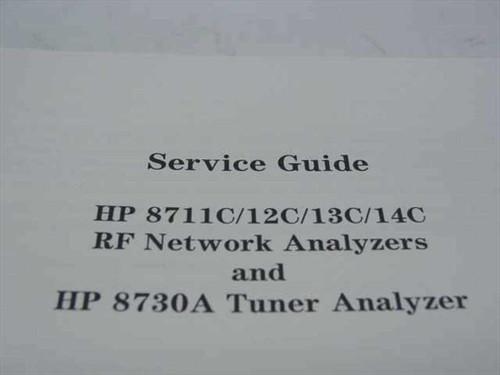 HP 8711C/12C/13C/14C RF Network Analyzers and HP 8730 (08712-90059)