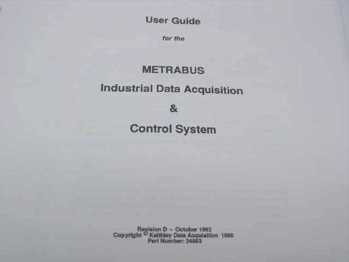Keithley Metrabus Industrial Data Acquisition & Control Sys (24883 / 24799)