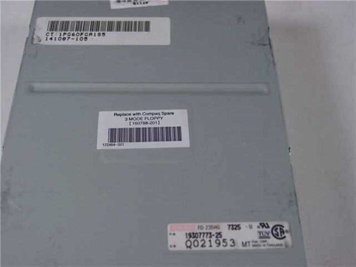 "Compaq 160788-201 1.44MB Floppy Drive 3.5"" Internal - Teac FD-235HG 19307773-25"