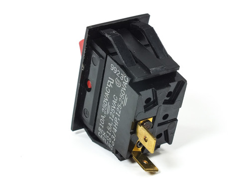Carling TIGAS1-6S-RD-NBL-XWG1 Rocker Switch 3/4HP 125-250VAC