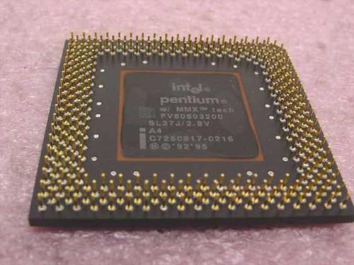 Intel SL27J 200MHz CPU Pentium MMX Processor FV80503200 - TESTED