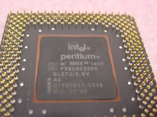 Intel SL27J 200MHz CPU Pentium MMX Processor FV80503200 - TESTED