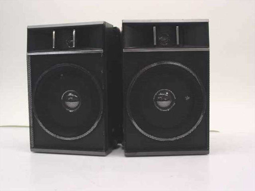 Generic Black Set of Right and Left Speakers