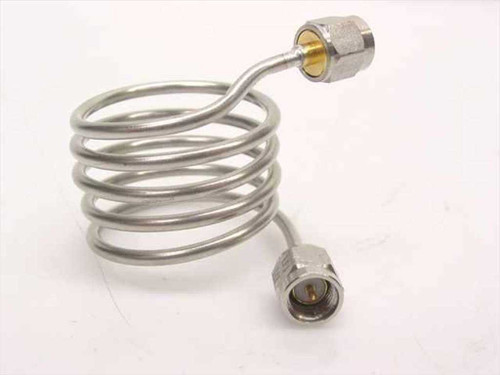 "Generic Coiled coaxial with SMA-M - 10"" Long Wide Wind (Stainless Steel)"