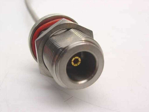 "Generic 11"" Cable SMA-M connector to N-F bulkhead connector (Semi-Rigid)"