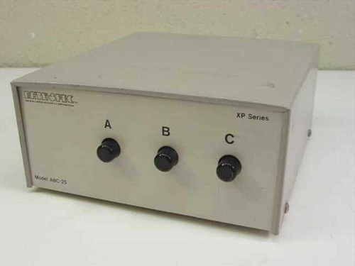 Data Spec ABC-25 Three Way DB-25 25-Ping ABC Push Button Data Switch