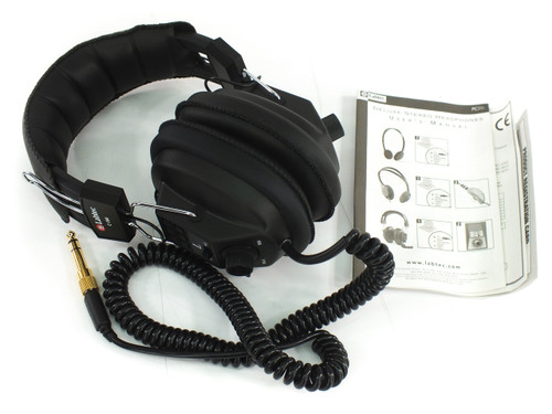 """Labtec C-184 Stereo/Mono Headphones with Volume Control 3.5mm 1/4"""" - New In Box"""