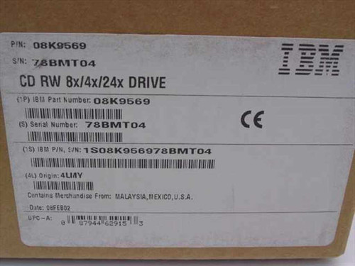 IBM Thinkpad 8x4x2x CD-RW Drive 08K9569