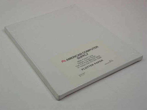 """American Computer Supply 8.5"""" x 11"""" 80 lb 50 pack Plotter Paper"""