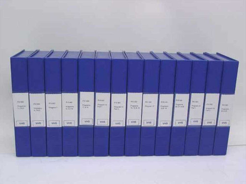 Perkin Elmer 12 Videotapes of Technical Instruction - 25 Programs PHI 660 Scanni