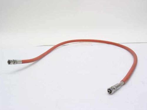 "Orange 1/4"" Diameter High Pressure Hose with Compression Fittings"