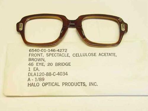 USS Classic Horn-Rimmed Eyeglasses Frame 6540-01-146-4272 Size: 46 Eye 20 Bridge