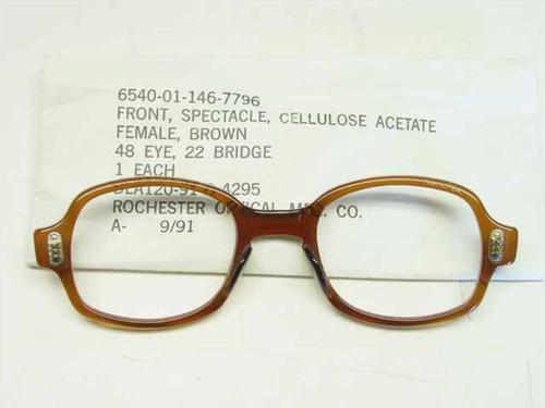 USS Classic Horn-Rimmed Eyeglasses Frame 6540-01-146-7796 Size: 48 Eye 22 Bridge