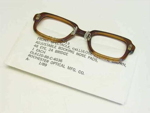 USS Classic Horn-Rimmed Eyeglasses Frame 6540-01-146-7813 Size: 48 Eye 24 Bridge