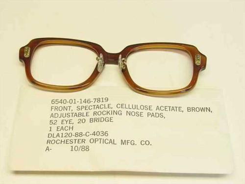 USS Classic Horn-Rimmed Eyeglasses Frame 6540-01-146-7819 Size: 52 Eye 20 Bridge