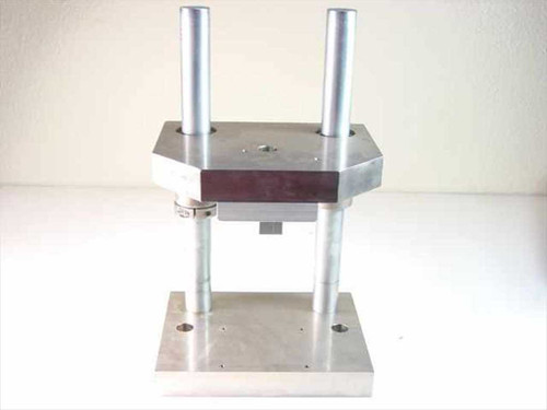 "Generic Stand and 1.25"" Thick Stainless Steel Plates for a Pneumatic Press Setup"