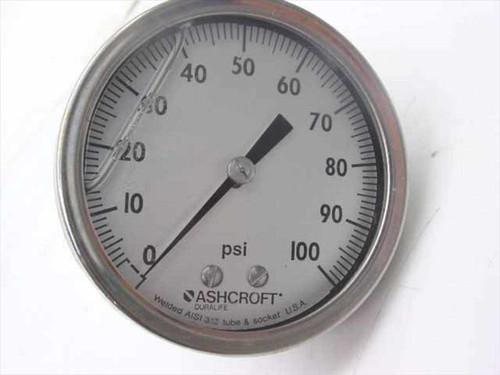 """Ashcroft 2 1/2"""" 100 PSI Glycerin-filled Gauge (250-2990)"""