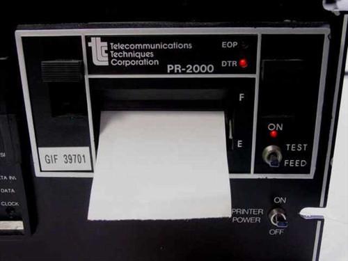Telecommunications Techniques Corp. Data Error Analyzer With Printer PR 2000 ~V