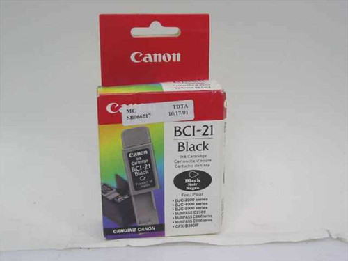 Canon BCI-21 Black Ink Cartridge for Series BJC and Multipass Inkjet Printers