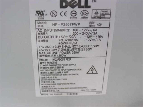 Dell N2286 250W 20-Pin ATX Power Supply - HP-P2507FW - Optiplex GX270