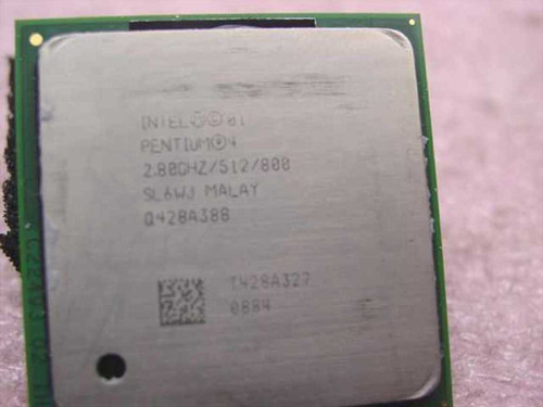 Intel P4 2.80 GHz 800 Pentium 4 CPU Processor Socket 478 (SL6WJ)