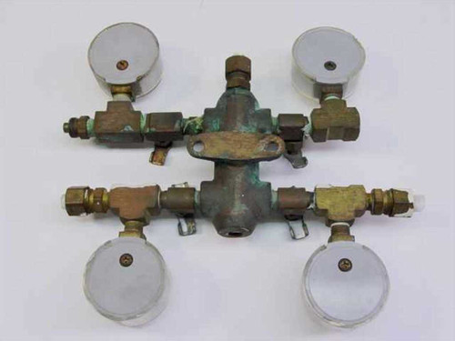 Generic 4 Outlet Low Pressure Manifold 0 to 15 PSI 233 150