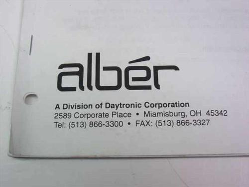 Alber Model TBM Telecommunications Battery Monitor Instr (91790)