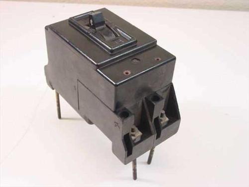 GE AF-1 15 Amp Circuit Breaker 230 Volts 2-Pole - BLACK
