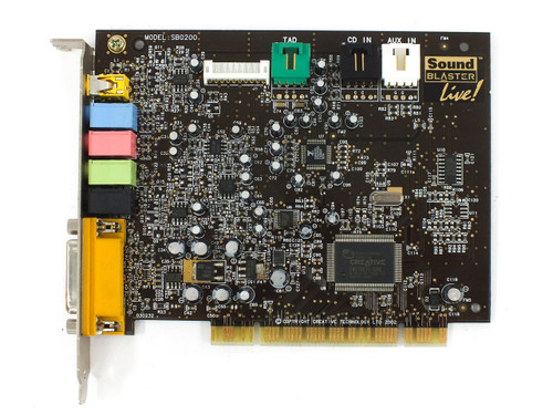 Creative Labs SB0200 Sound Blaster Live PCI Sound Card - Dell 0R533 - Tested XP
