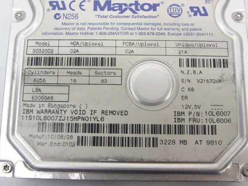 IBM 6.4GB 3.5 IDE Hard Drive - Maxtor 90644D3 02K3426