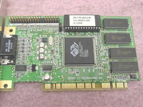 ATI 102406060 2MB VGA PCI Video Card - Rage 3D II - 3D Charger 113-40603-100
