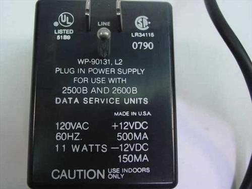 AT&T AC Adapter 12VDC 500mA -12VDC 150mA WP-90131, L2