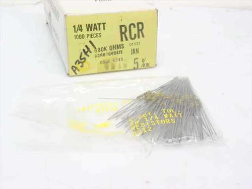 Allen-Bradley RCR07G684JS 680k OHMS 1/4 Watt Composite Resistors - Box 700 Units