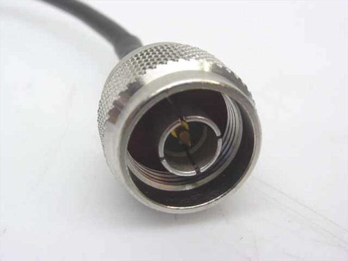 "Black 18"" Coaxial Cable w/TNC-M to SMC connectors (RG-58/U)"