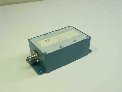 Bessel 6.0 MHz 5 Pole Bessel Filter 50 Ohms In/Out Low Pass in Enclosure Housing