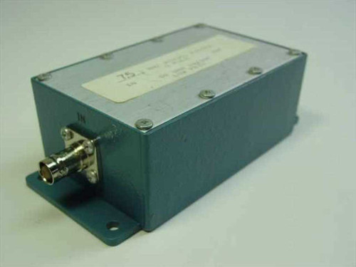 Bessel 7.5 MHz 5 Pole Bessel Filter 50 Ohms In/Out Low Pass In Housing