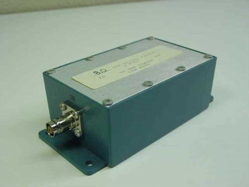 Bessel 8.0 MHz 5 Pole Bessel Filter 50 Ohms In/Out Low Pass in Enclosure Housing