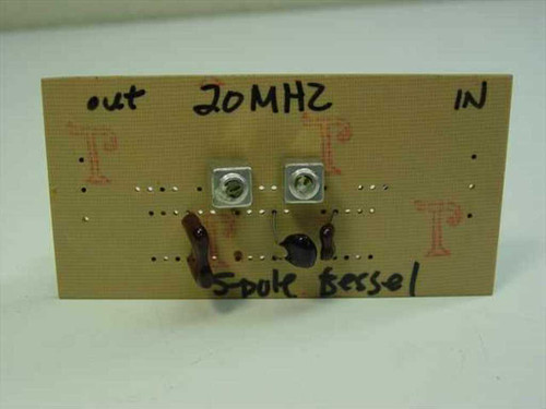 Bessel 20 MHz 5 Pole Bessel Filter 50 Ohms In/Out Low Pass on Card