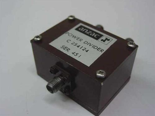 Anzac C254124 Power Splitter/Combiner with SMA-f Connectors