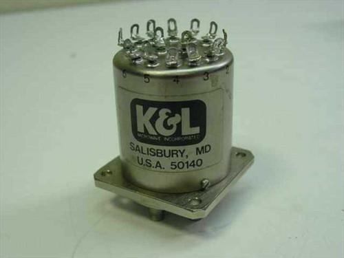 K&L Single Pole 6 Throw Coaxial Relay 6MP-28-F-0-4