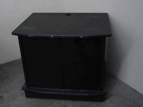 CRT & LCD Flat Panel  TV Cabinet with Black Glass Doors w/ 2 Shelf Multimedia